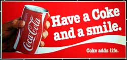 Have a Coke and a Smile - t-shirt marketing campaign