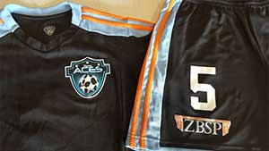 Team Kits for Houston Aces Soccer